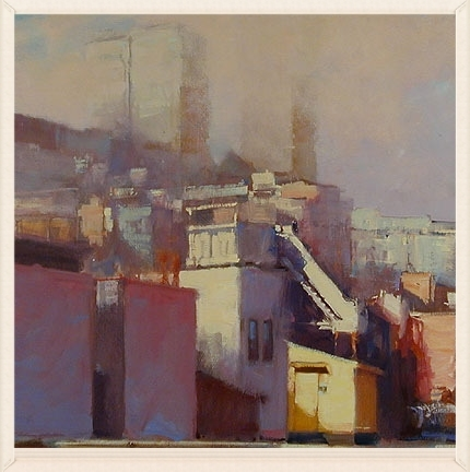 Rooftop Access, 30 x 30, Oil