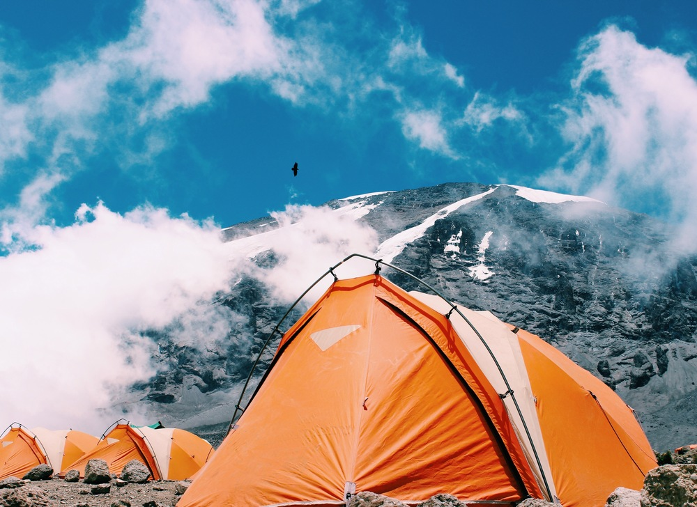 Basecamp at ~ 17,500 feet. Also, the most beautiful view I have ever awoken to.