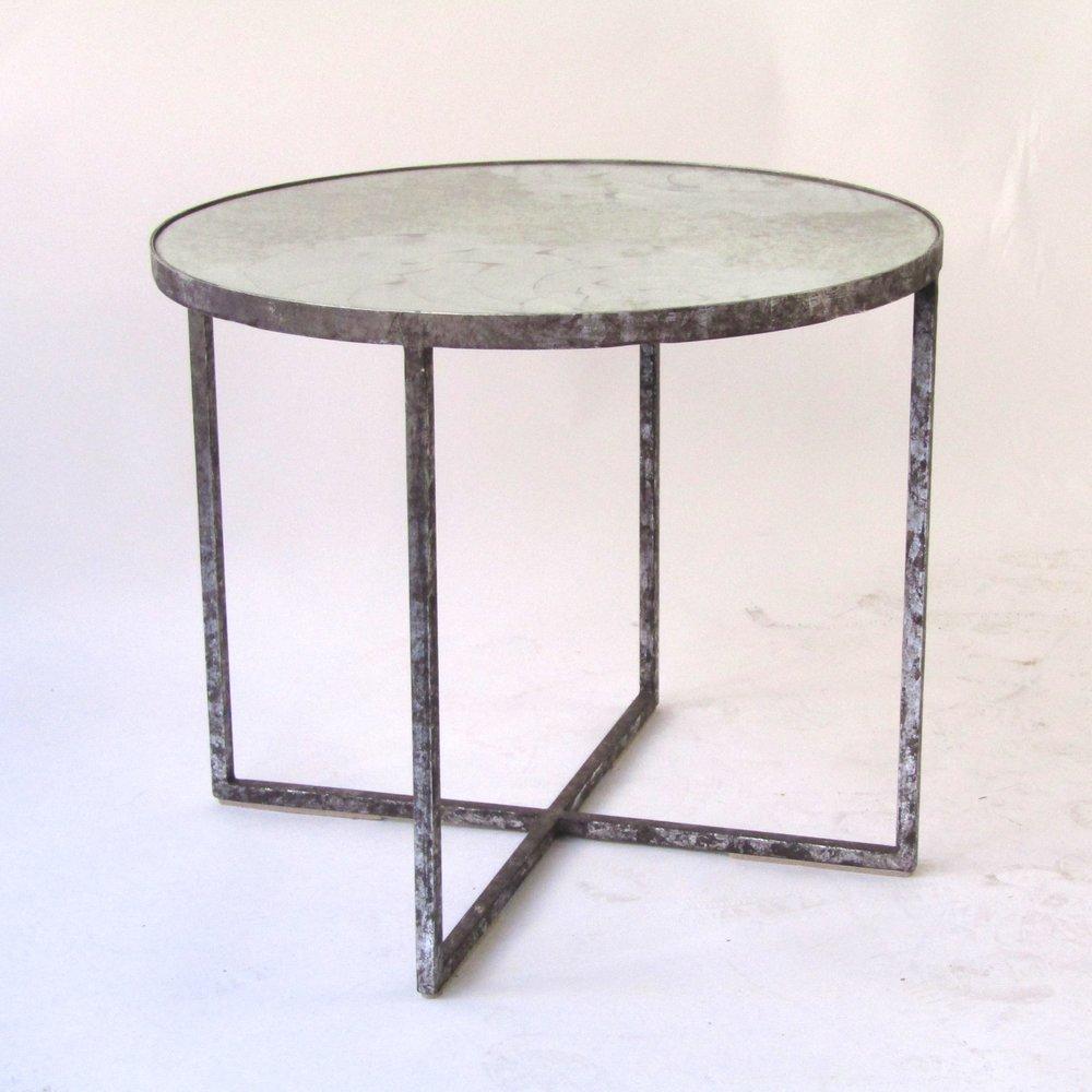 Mercury Mirror End Table