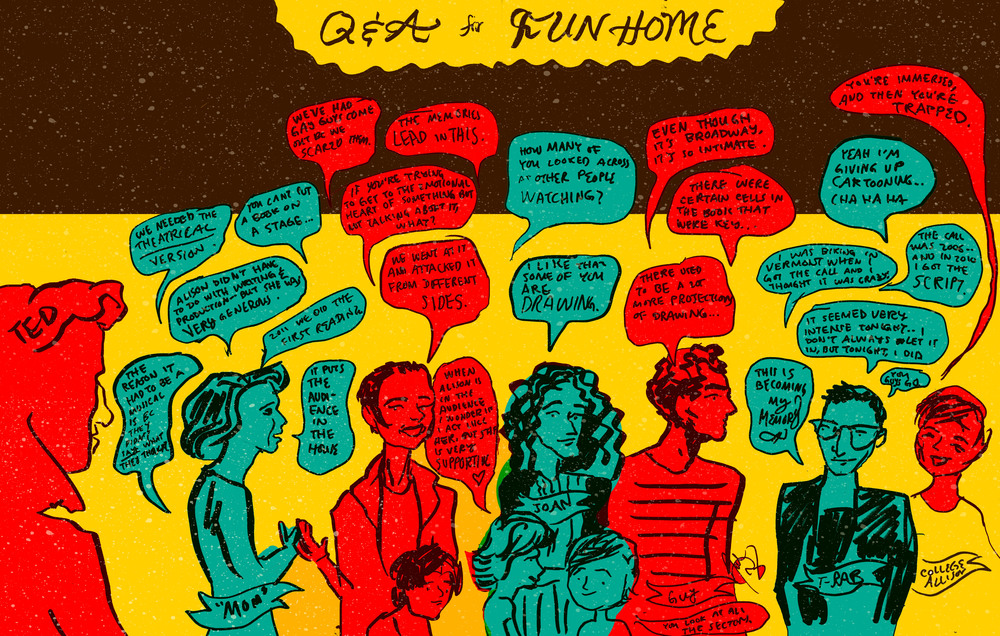 Notes from the Q&A with Alison Bechdel and the cast of Fun Home, after an unforgettable performance.