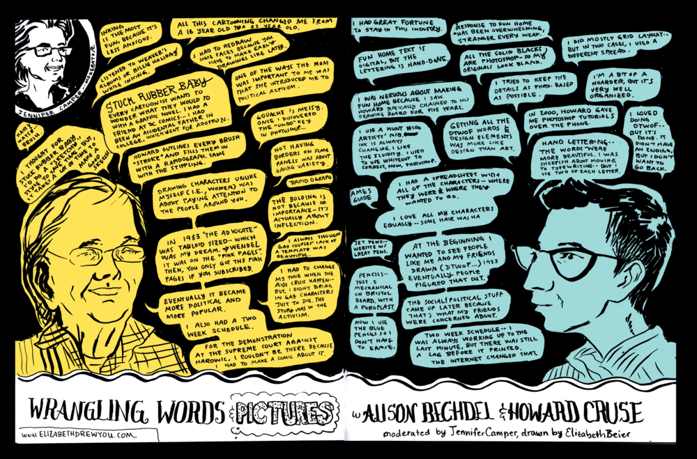 Alison Bechdel and Howard Cruse