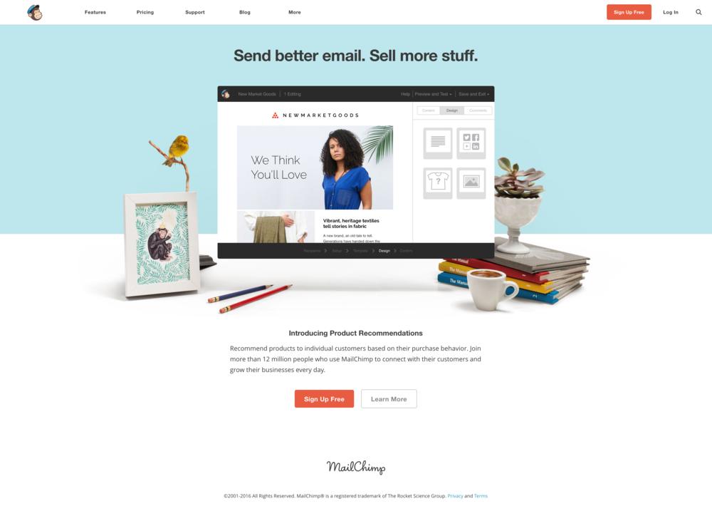 Click to visit MailChimp