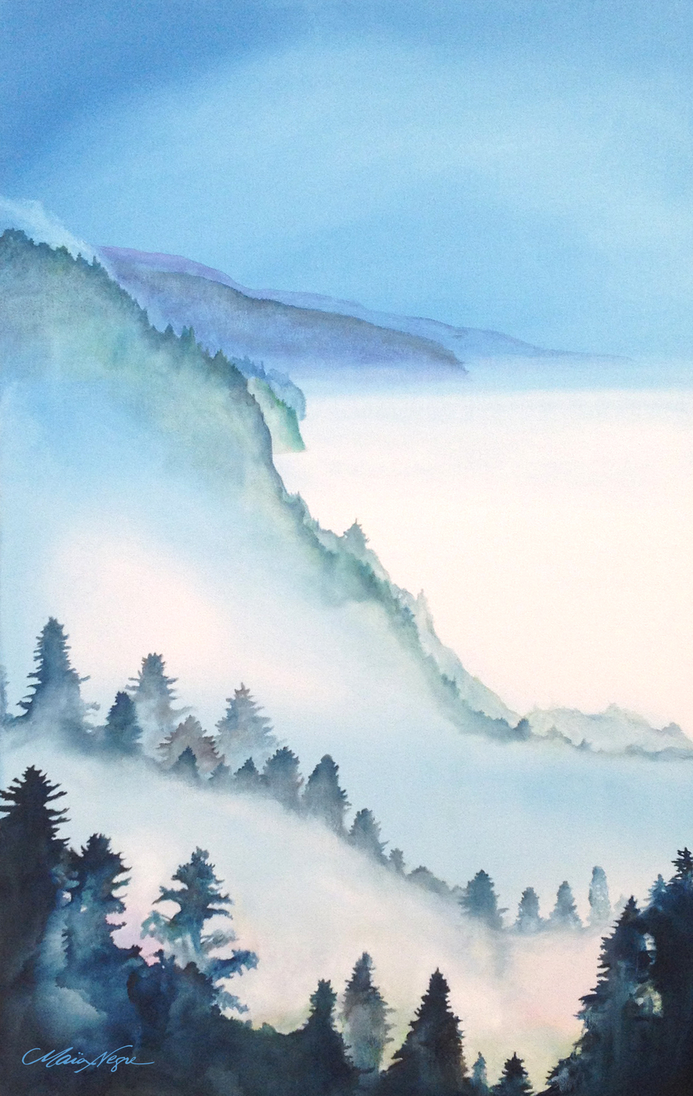 Big Sur Mist OIL ON CANVAS