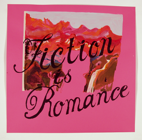 Fiction with 19th century mountains on Pink