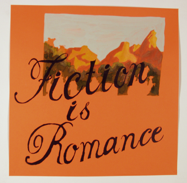 Fiction with orange mountains on Orange