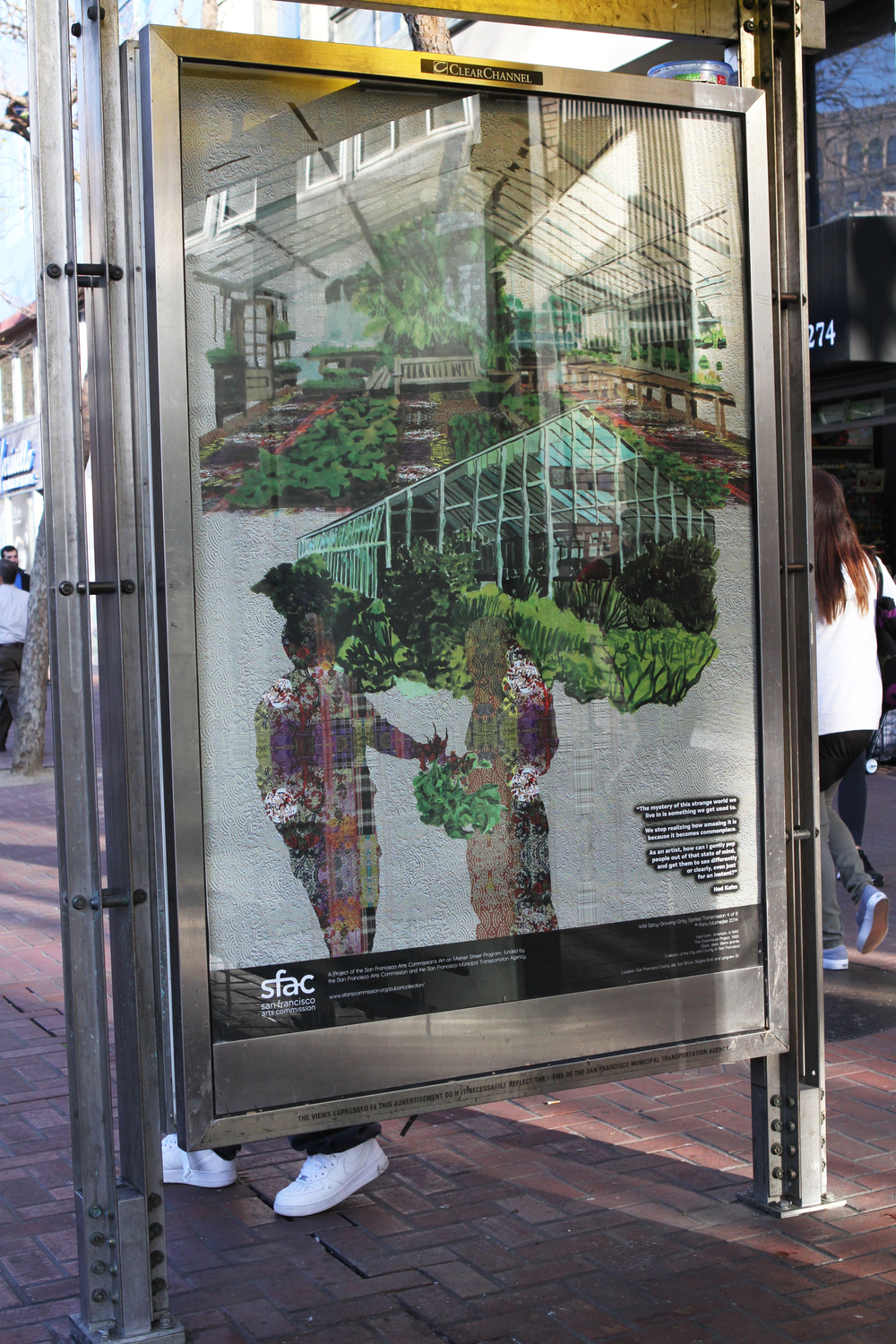Wild, Spicy, Growing, Gritty, Spirited Transmission #4    in Situ, Poster series, 2014-15    San Francisco Arts Commission, Art on Market Street