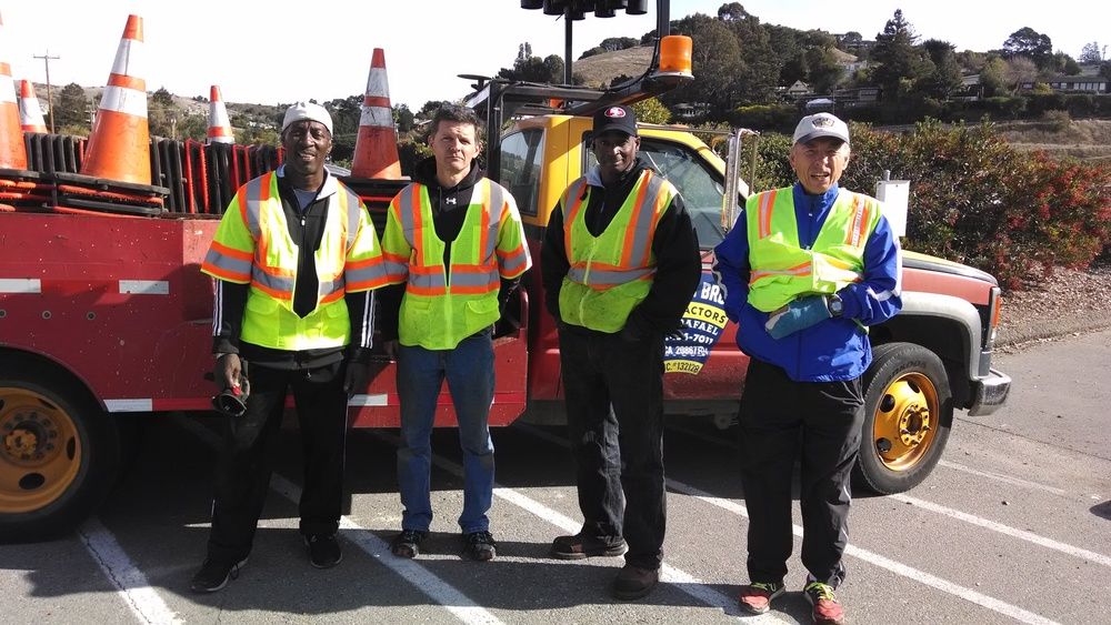 Volunteering for the Tiburon Half Marathon