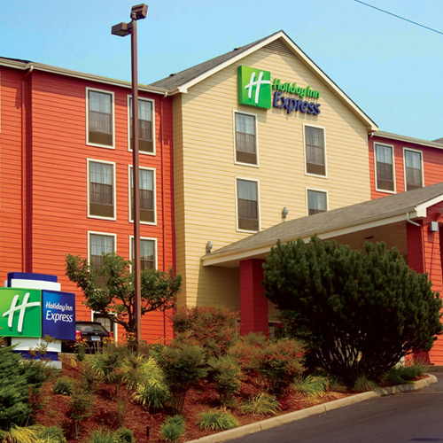 Holiday Inn Express hotel entrance area
