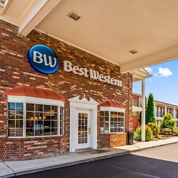Best Western hotel entrance area