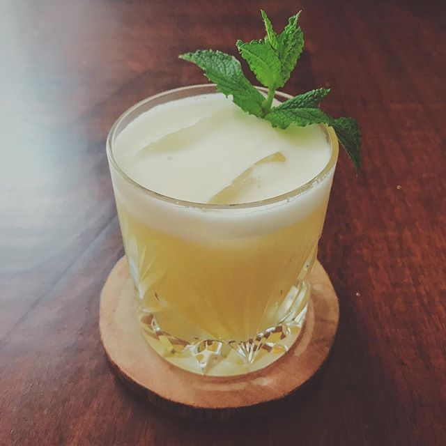 Summer.  Aviation Old Tom | Cannon Beach Aged Tequila | Lime | Basil Honey | Orange Bitters | Mint