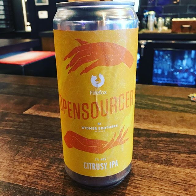 Firefox made a beer.  It's called Opensourcery.  It's at Widmer exclusively.  It's delicious.  #mozilla #firefox #netneutralitymatters