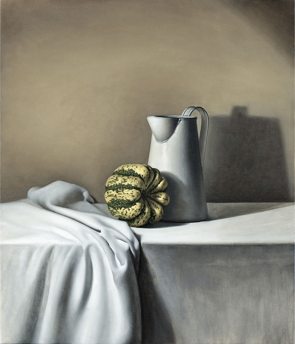 jug and pumpkin    2012    oil on canvas    75 x 65 cm