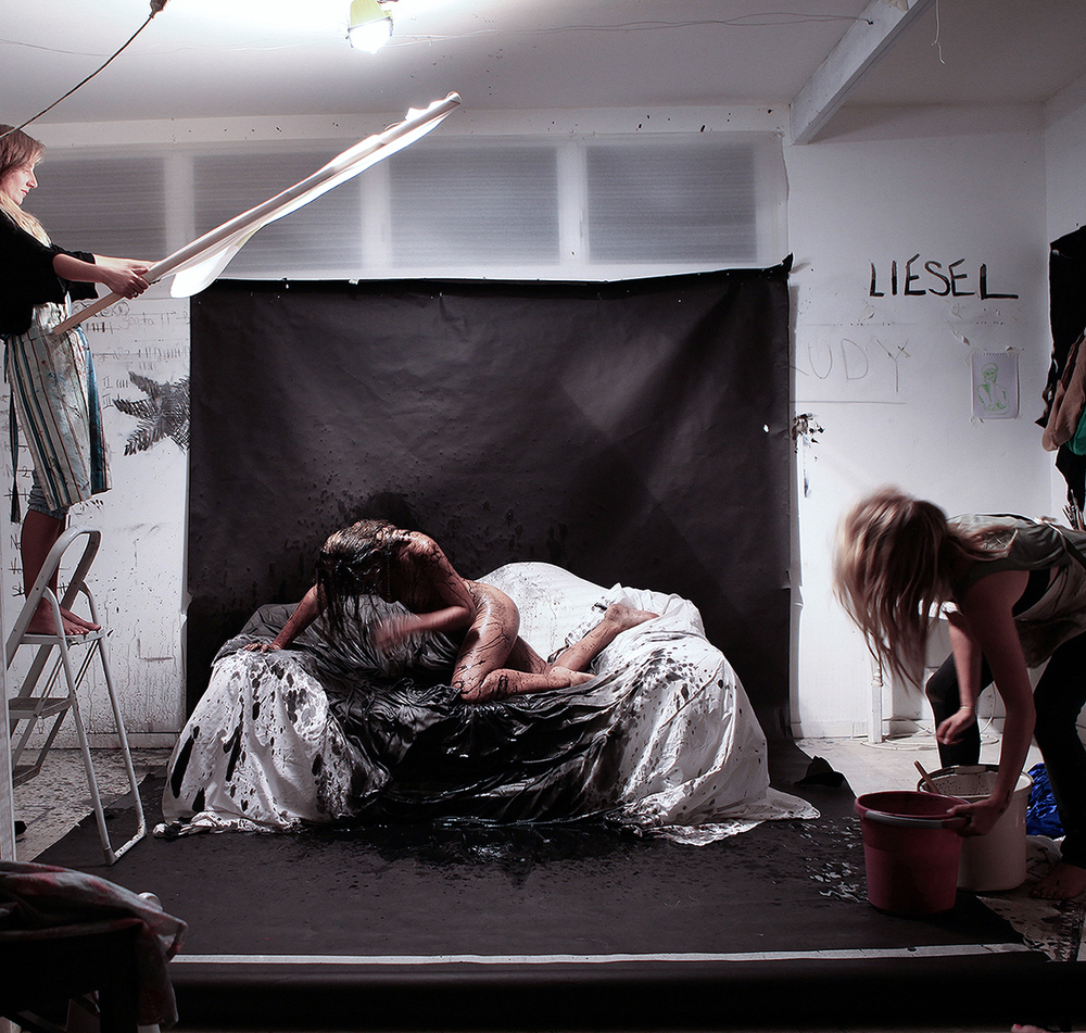 studio image:  photo shoot for  DELUGE