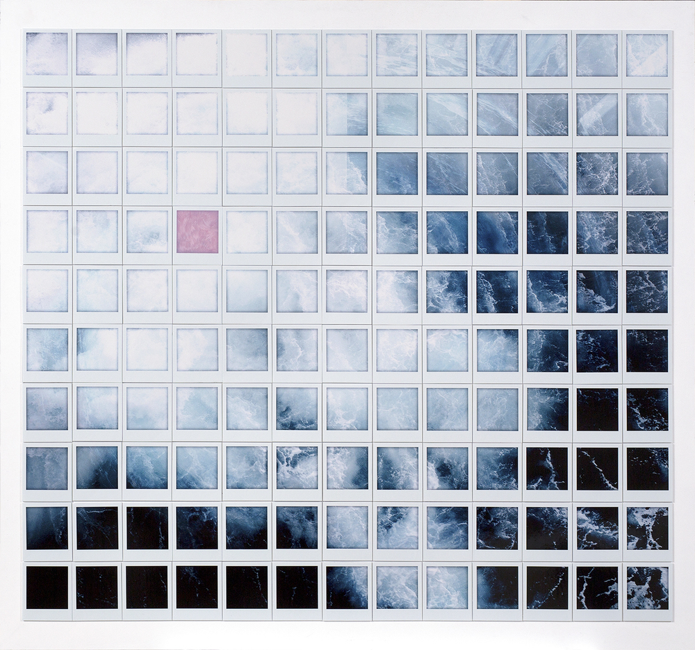 wake    2015    130 polaroid style photograph mosaic on panel, edition of 8   120 x 128 cm