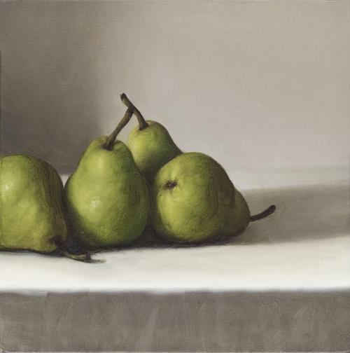 four pears  2015  oil on canvas  40 x 40cm