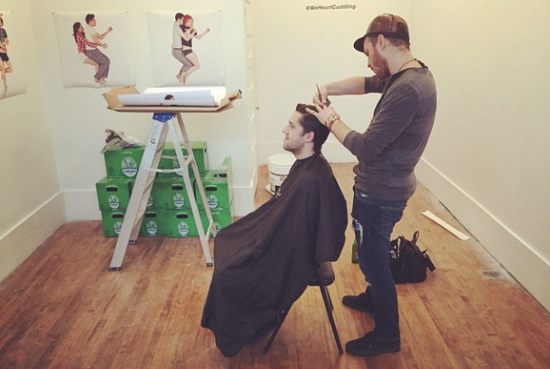 @hairbyrich doing what he does best.