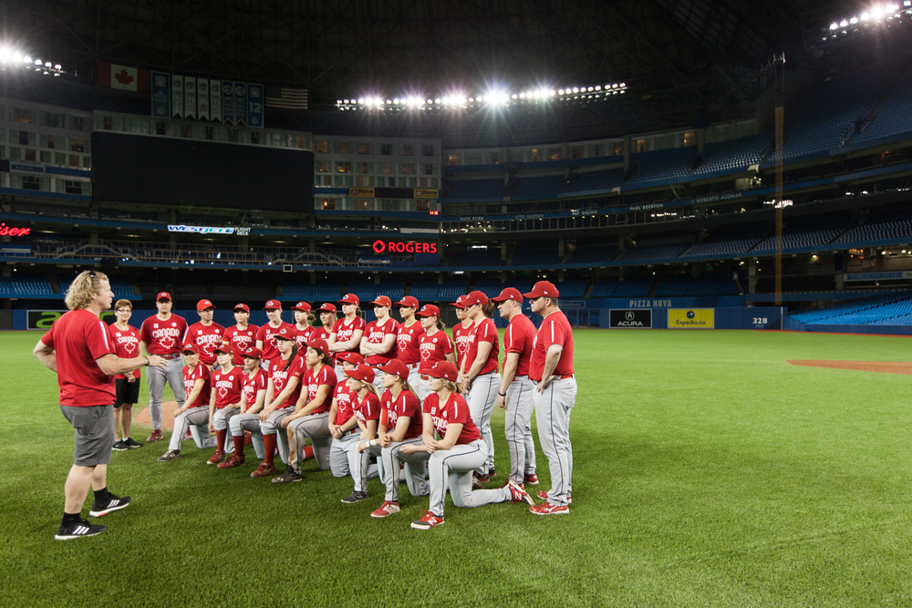 Canadian Women Baseball team reveal.