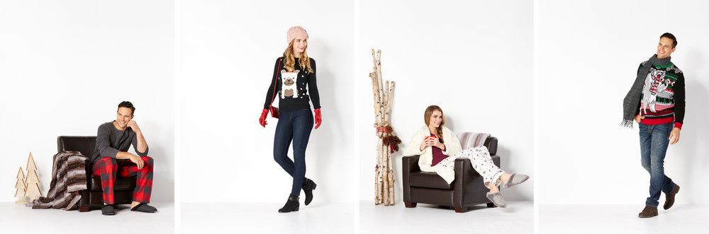 A selection from a Christmas campaign. Models: Eric Travis w/ Sutherland and Brooklyn w/ Key Models