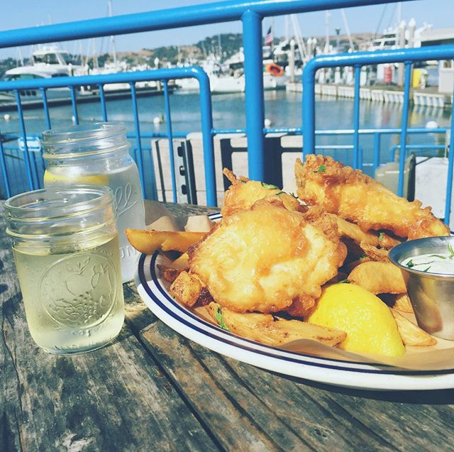 You can't go wrong with fish & chips & summer water.