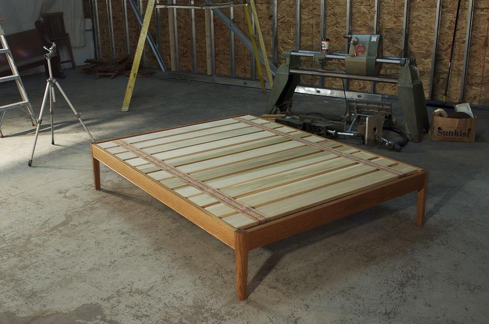 White Oak Platform Bed Frame