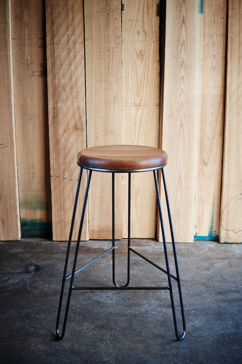White Oak High Stool
