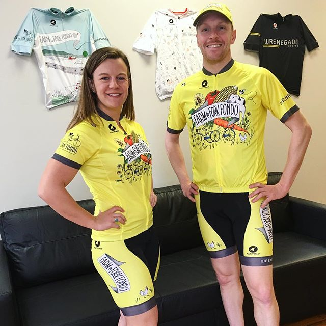 It's finally here! Our 2019 Farm to Fork Fondo Artisan Collection cycling kit! 💛  Order yours today at FarmtoForkFondo.com/store