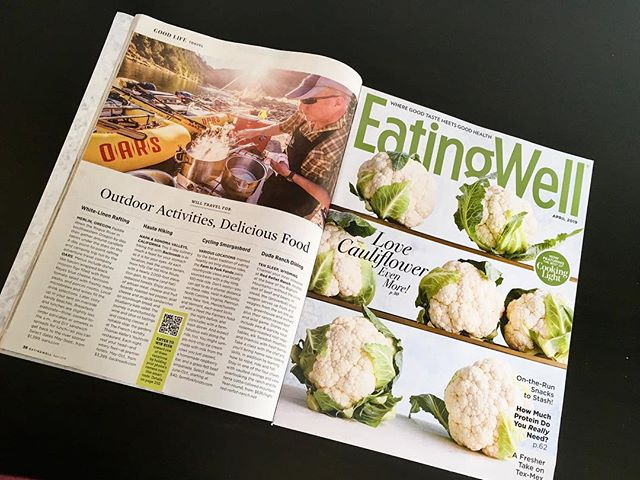 """Described as a """"Cycling Smorgasbord"""" by @eatingwell in its April issue the Farm to Fork Fondo series was among four events featured in the Good Life, Travel section, where outdoor activities meet gourmet food."""
