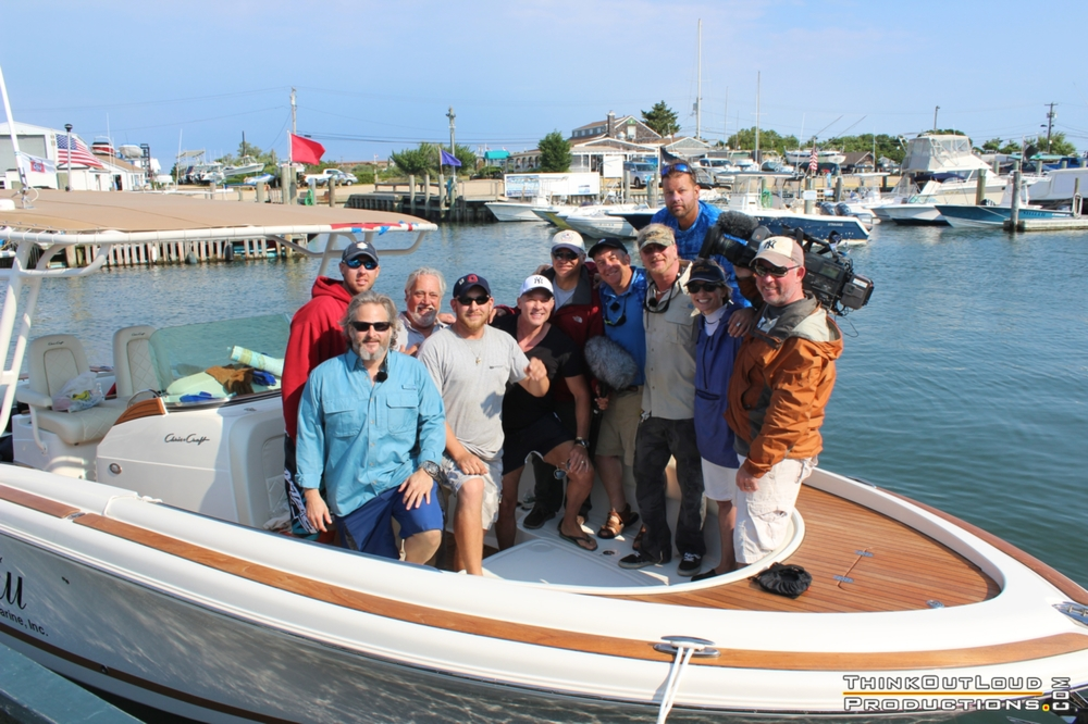 "Kerry Sanders, Mary Ann Zoellner, Sam Champion and ace NBC Crew with Carl Darenberg, Zach ""Hammer"" Miller, Capt. Rob Humann, Bill Spraul, Sean Paxton, Brooks Paxton."