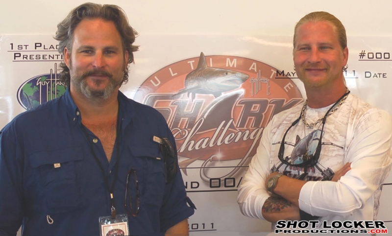 The Shark Brothers during on-camera interviews for the Discovery Channel's Shark Week Series.
