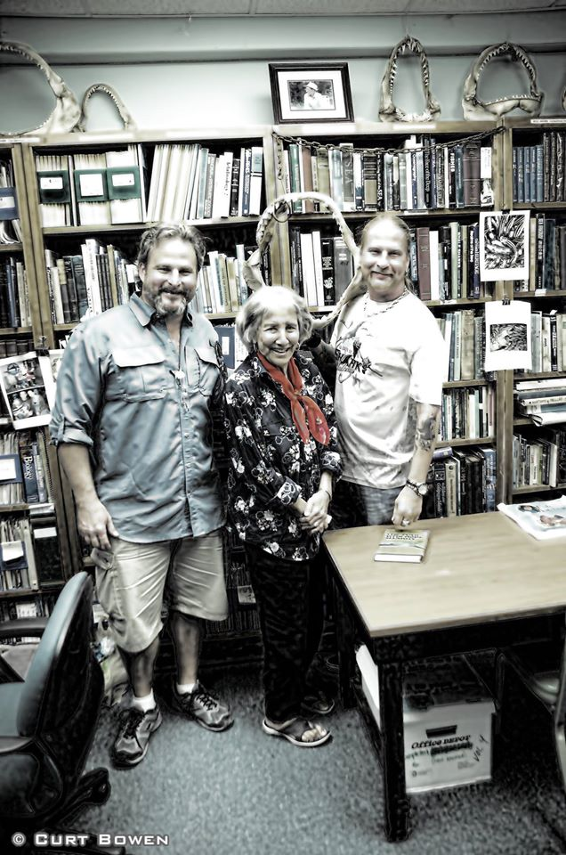 l-r: sEAN pAXTON, eUGENIE cLARK, bROOKS pAXTON