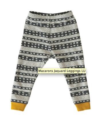 macaron leggings organic cotton