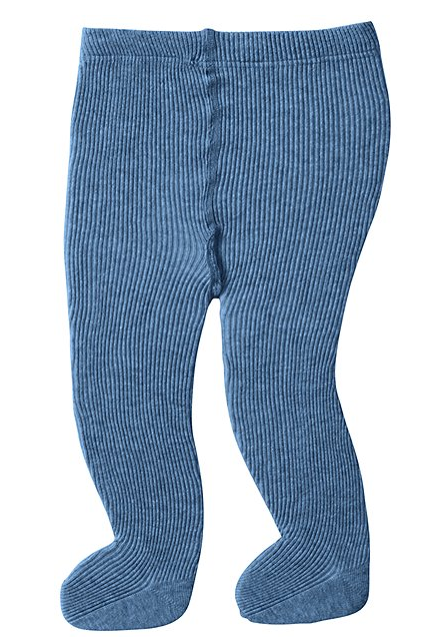 Hanna Andersson signature blue ribbed tights