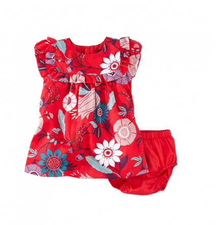 Elfengarten baby girl dress tea collection sateen
