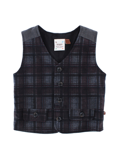 fore axel and hudson plaid vest