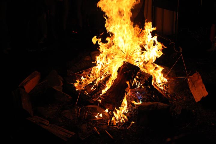 Effigies in bonfire