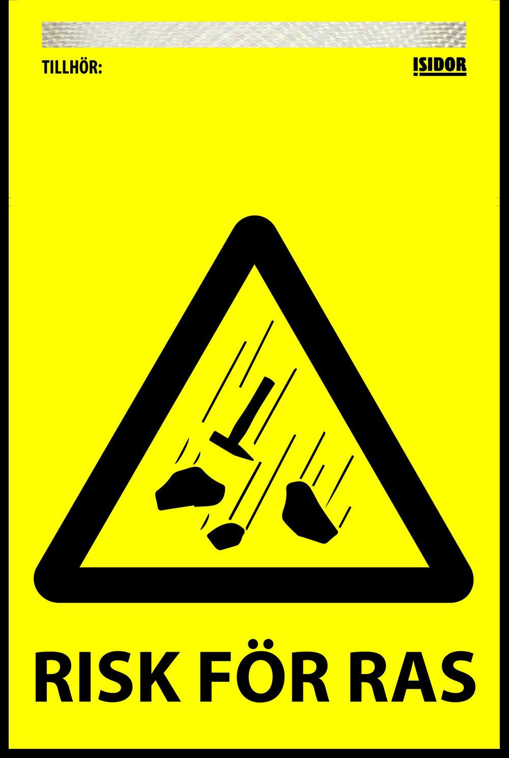 """Flagga """"RISK FÖR RAS"""""""