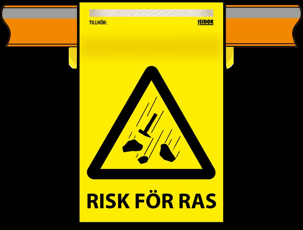 Isidor flagga gul Risk för ras på planka.png