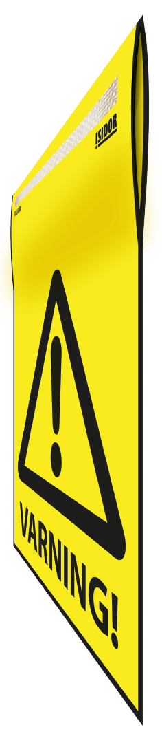 Flagga gul perspektiv Varning 1.png