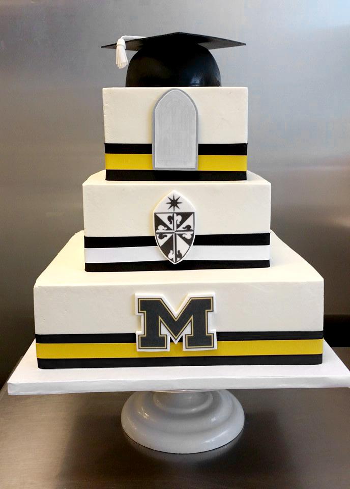 3 tier grad cap school logo cake.jpg