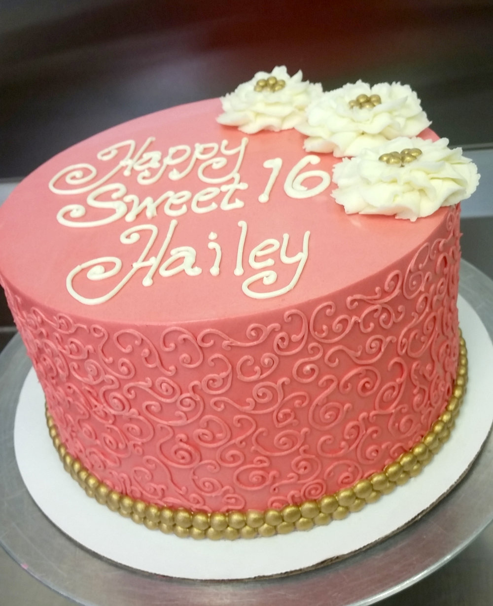 colored scrollwork gold accent cake.jpg
