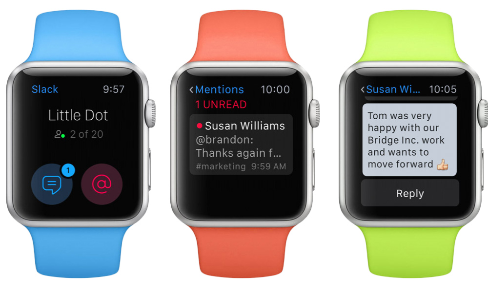 Slack on the Apple Watch