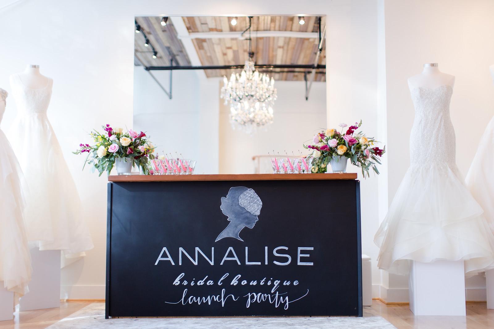 f15729ed129a Annalise Bridal Boutique Launch Party — The Proper Petal