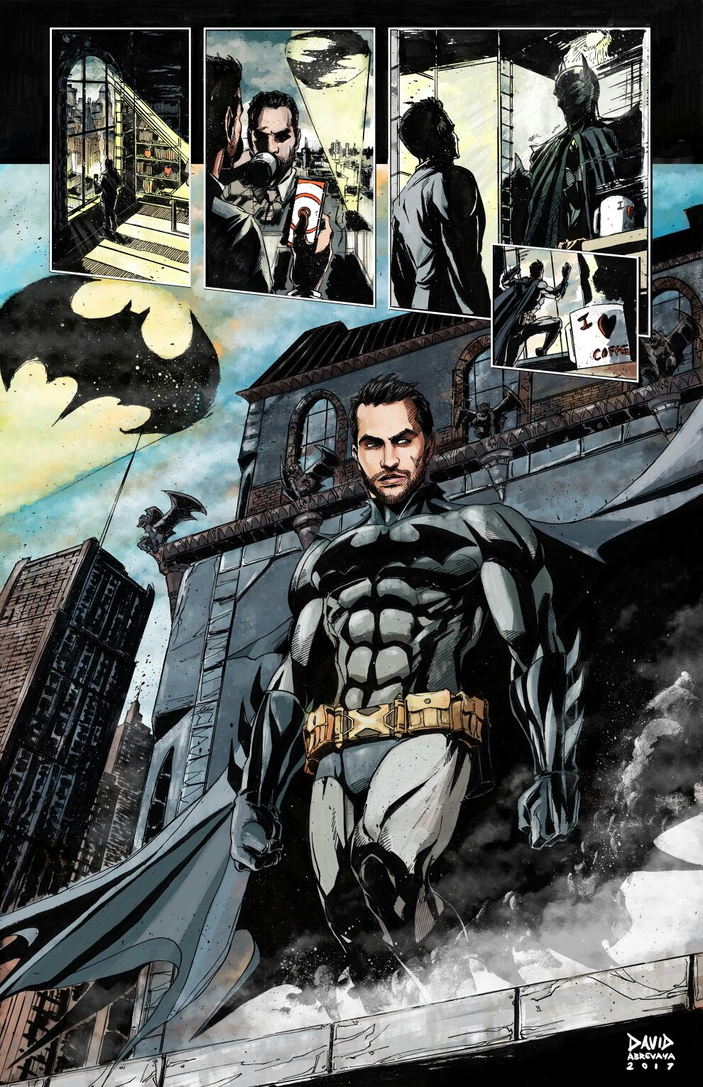Yeah, that's me as Batman. Check out David's other work here, he's amazing.