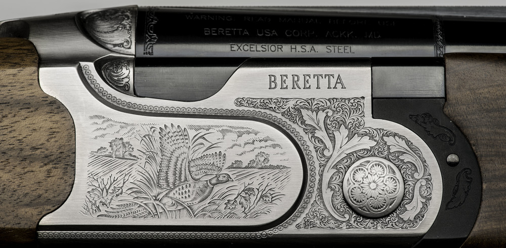 Detail of a Beretta shotgun