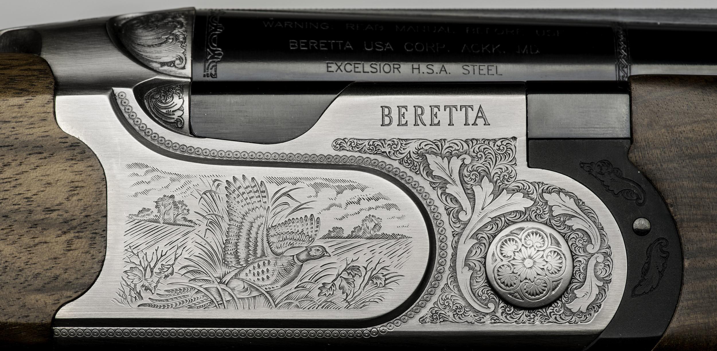 Detail of a Beretta shotgun