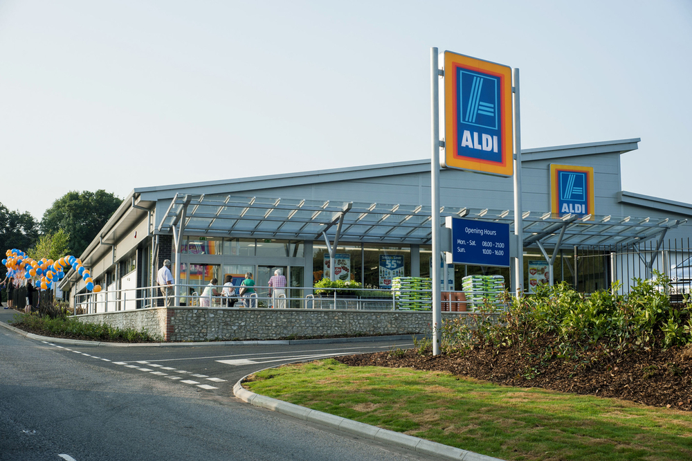 An Aldi store in Honiton, Essex, in the UK