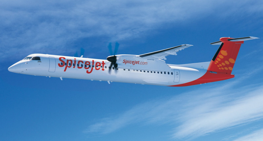 A SpiceJet plane.