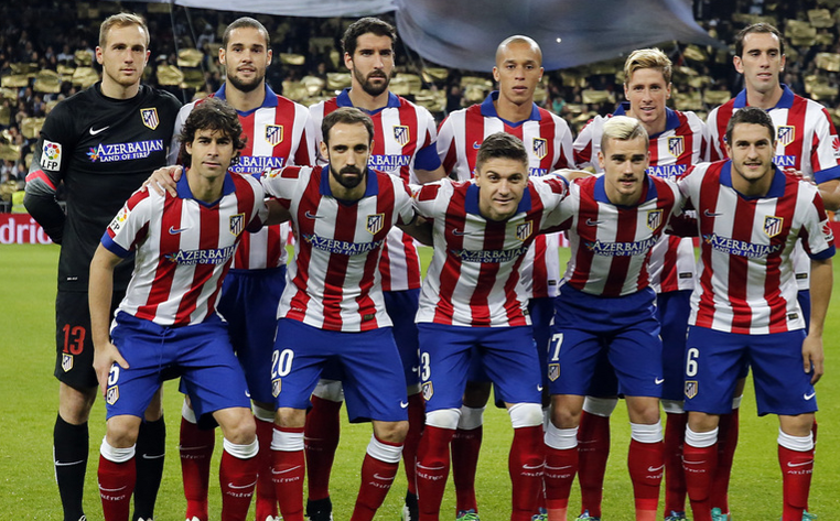 Atletico Madrid's current team. PHOTO: Angel Guttierez.