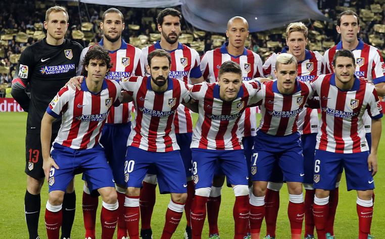 Atletico Madrid's current team. PHOTO:Angel Guttierez.