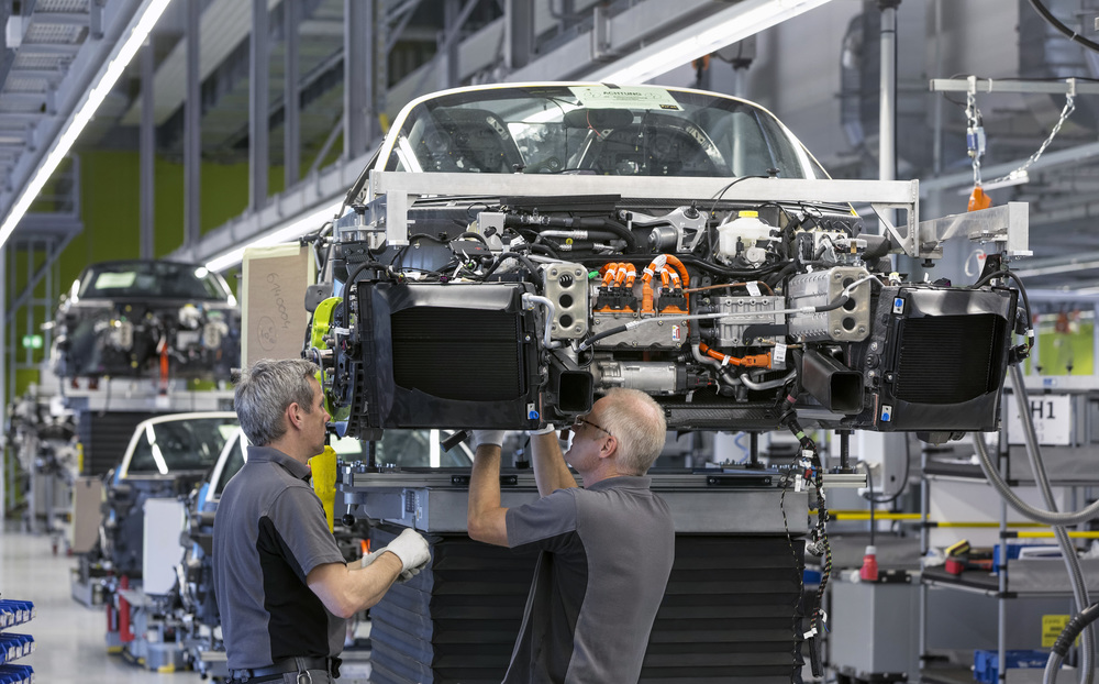 A Porsche Spyder in production. Image: Porsche